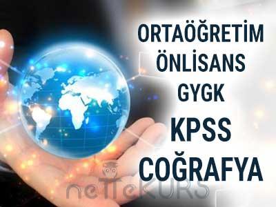 2018 KPSS Ortaöğretim Önlisans GYGK Coğrafya Dersleri