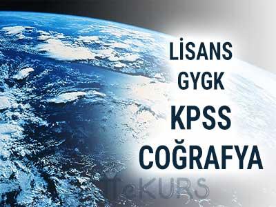 2018 KPSS GYGK Coğrafya Dersleri