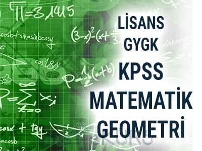 2018 KPSS GYGK Matematik Geometri Dersleri