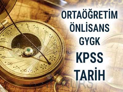 2018 KPSS Ortaöğretim Önlisans GYGK Tarih Dersleri