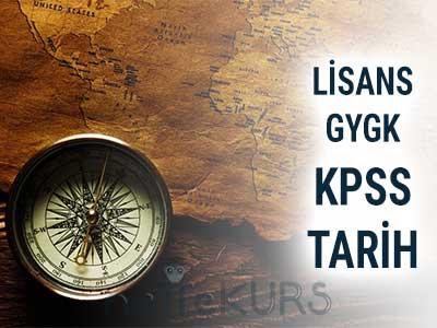 2018 KPSS GYGK Tarih Dersleri