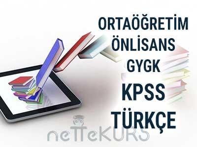 2018 KPSS Ortaöğretim Önlisans GYGK Türkçe Dersleri