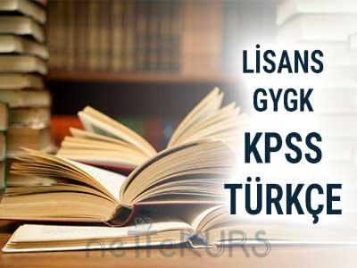 2018 KPSS GYGK Türkçe Dersleri
