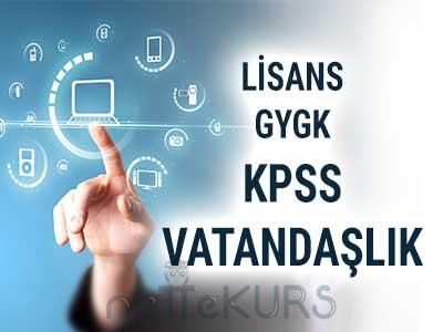 2018 KPSS GYGK Vatandaşlık Dersleri